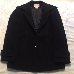 Women's Black Wool Peacoat